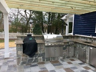 Custom Outdoor Kitchen Designs Installation Jj Landscape Management Inc