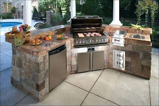 Lowes Outdoor Kitchen Island Bbq Pits Bbq Grill Grates Masternovainfo
