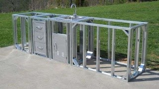 Prefab Outdoor Kitchen Kits Kit Straight Modular Patio