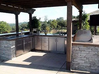 U Shaped Outdoor Kitchen Designs Otdoor Layots Samples Ideas Landscaping Network