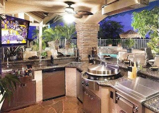 Awesome Outdoor Kitchens Kitchen Designs and Ideas Best Back Yards Patios