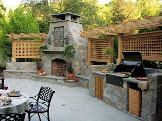 Outdoor Kitchen Fireplace Ideas Designs Featuring Pizza Ovens S and Other
