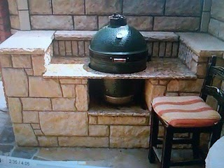 Big Green Egg Outdoor Kitchen Plans Help Any Creative Builtin Bge Installation Ideas