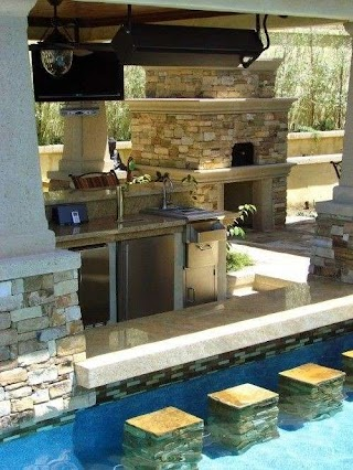 Outdoor Kitchen Designs with Pool 95 Cool Digsdigs