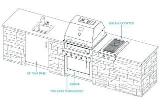 Free Outdoor Kitchen Plans S Ideas Floor