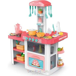 Outdoor Play Kitchen Sets Toys Kingdom Home Set with Lights and Sounds Toys