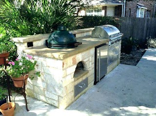 Green Egg Built in Outdoor Kitchen Big Stallg Custom Tables
