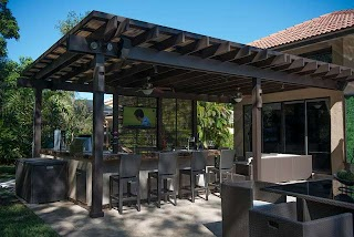 Pergola Outdoor Kitchen and Project in South Florida Traditional