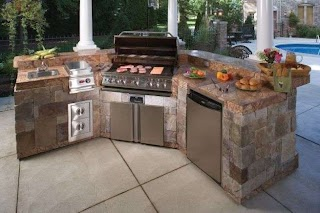 Pre Built Outdoor Kitchen Your Own Fab S Cast Concrete