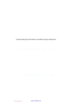 1848214707 {18FC1EF8} Proportionate-type Normalized Least Mean Square Algorithms [Wagner _ Doroslovački 2013-07-10].pdf