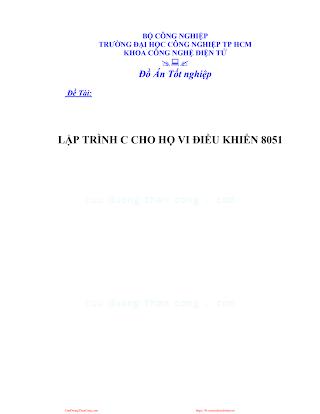 LVDA.lập Trình C Cho Họ Vi Điều Khiển 8051 - Lê Văn Long.pdf