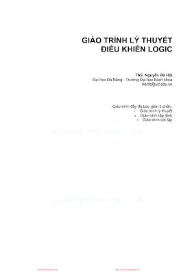 Giáo Trình Lý Thuyết Điều Khiển Logic - Ths.Nguyễn Bá Hội, 124 Trang.pdf