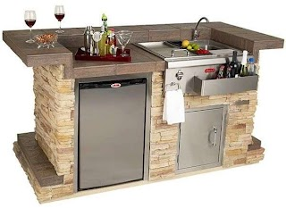 Compact Outdoor Kitchen Bar Island Patio Bars