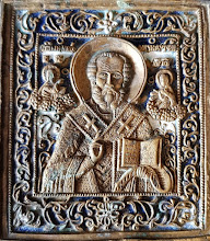 "Icoana din bronz emailat ""Sf. Nicolae"""