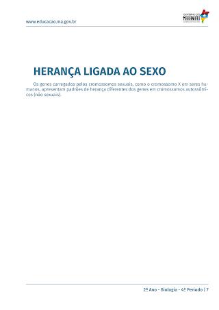 SEXO E HERANÇA GENÉTICA