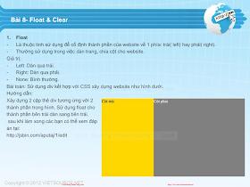 CSS- Bài 8 - Float _ Clear.pdf