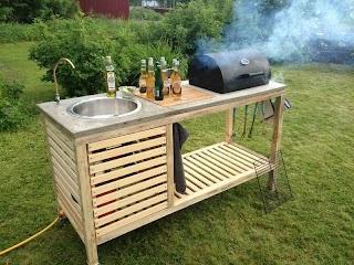 Diy Outdoor Kitchen Island 17 Plansturn Your Backyard Into Entertainment Zone