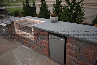 Outdoor Kitchen with Charcoal Grill Custom S Smoker