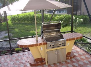 Bbq Outdoor Kitchen Kits S Mini with Grill and Umbrella How To