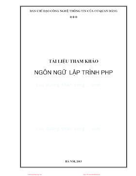 Ngôn ngữ lập trình PHP.pdf