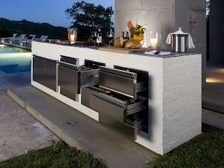 Outdoor Kitchen Stainless Steel Step Out to Enjoy The Beauty Modern S