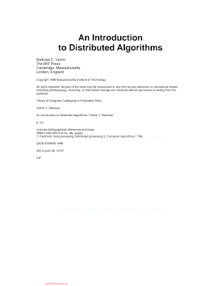 0262024128 {0173EFD9} An Introduction to Distributed Algorithms [Valmir 1996-09-01].pdf