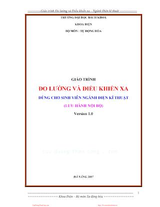 ĐHBK.Giáo Trình Đo Lường Và Điều Khiển Xa - Nhiều Tác Giả, 98 Trang.pdf