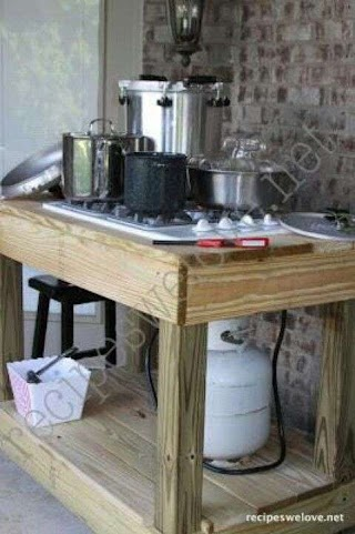 Outdoor Canning Kitchen Stove Sustainability Home