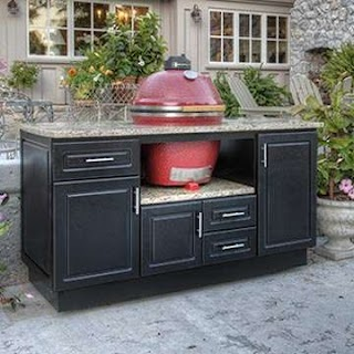 Outdoor Kitchen Gas Grill Custom Cabinets for Big Green Egg S and Bbq