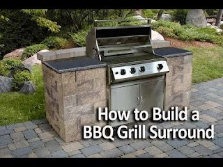How to Build Outdoor Bbq Kitchen a Grilling Station Or Grill Surround Youtube