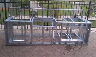 Steel Frame Outdoor Kitchen My Parents Build S Baths Contractor Talk