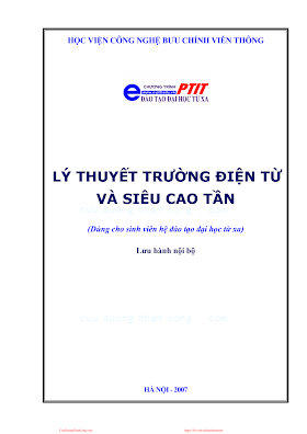 BCVT.Lý Thuyết Trường Điện Tử Và Siêu Cao Tần - Ths. Tôn Thất Bảo Đạt, 125 Trang.pdf