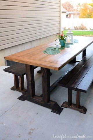 Outdoor Kitchen Table Dining Plans Houseful of Handmade