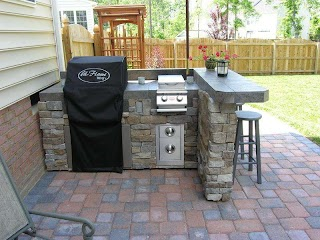 How to Build a Stone Outdoor Kitchen Beutiful Sne Plns Tuckr Box Decors