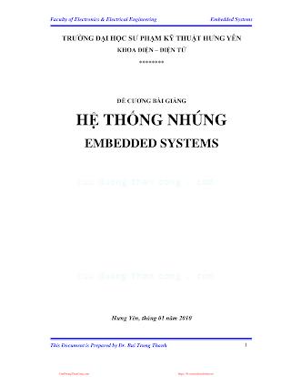 SPKT.Đề Cương Bài Giảng Hệ Thống Nhúng - Bùi Hồng Quân, 119 Trang.pdf