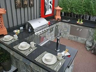 Outdoor Kitchen Countertops Ideas Bbq Backyard