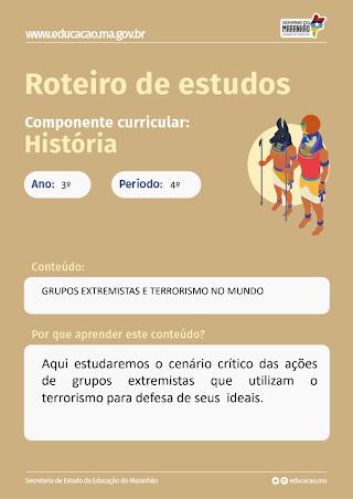 GRUPOS EXTREMISTAS E TERRORISTAS NO MUNDO