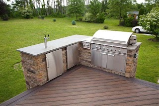 Outdoor Kitchen Faucets Terrific Deck Plans with With Stainless Steel