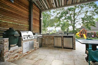 Outdoor Kitchens New Orleans Kitchen Design with Grill in Backyard Living
