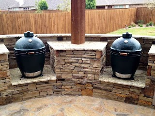 Outdoor Kitchen with Charcoal Grill Kamado Style S in S Dallas