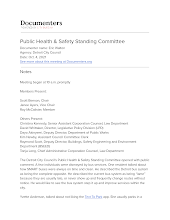 Public Health & Safety Standing Committee