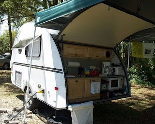 Travel Trailer with Outdoor Kitchen Small Rv Vintage Campers Cozy Spaces and Tiny