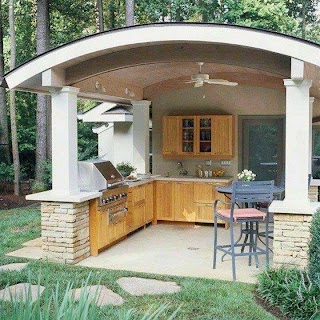 Outdoor Kitchen Roof Ideas Modern Permanent When I Grow Up