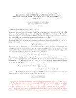Calculer le Wronskien (Anglais)