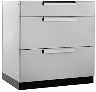 Outdoor Kitchen Storage Amazoncom Newage 65002 3 Drawer Cabinet