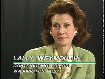 Lally Weymouth and Tommy Lapid (Original Airdate 5/16/1999)