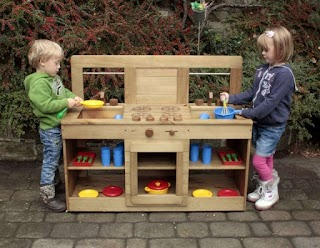 Outdoor Toy Kitchen Wooden Play Edusentials