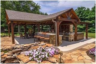 Outdoor Kitchen Pavilion Designs Backyard Ideas Backyard Backyard