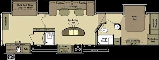 5th Wheel Bunkhouse Outdoor Kitchen Open Range Roamer 384bhs Rear with 2 Full Baths And