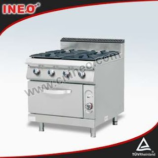 Outdoor Kitchen Gas Oven Restaurant Commercial Cooking Range With